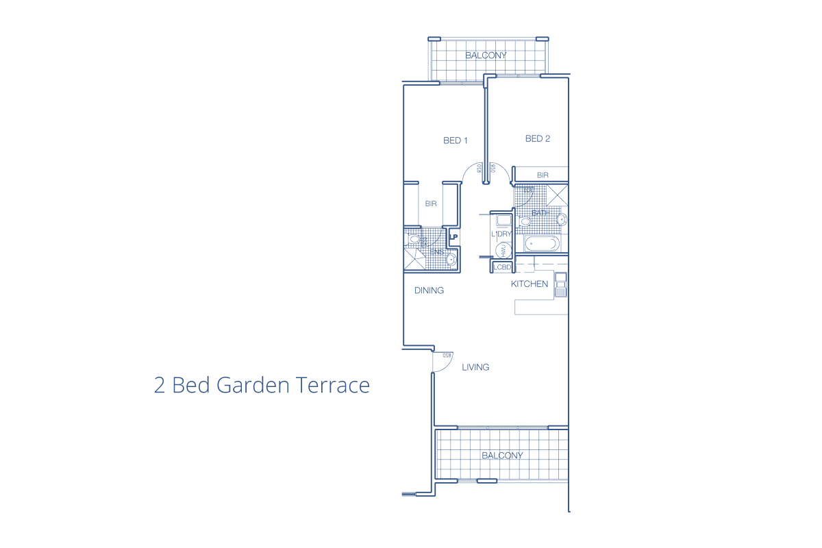 2 Bed Garden Terrace Accommodation In Port Macquarie Mantra The Schematic Floor Plan